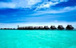 Une île fabriquée par l'homme de Kapalai image libre de droits