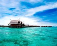 Une île fabriquée par l'homme de Kapalai photographie stock libre de droits