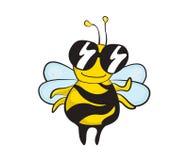 Une abeille drôle de style de bande dessinée Photographie stock