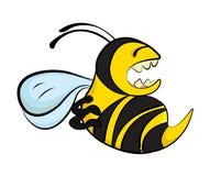 Une abeille fâchée Photographie stock