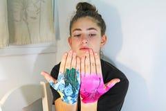 Une adolescente Photographie stock libre de droits