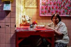 Une aide chinoise de temple Images libres de droits