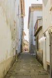 Une allée dans Valença, Portugal Images libres de droits