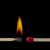 Danger de la combustion Images stock