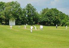 Une allumette anglaise de cricket Image libre de droits