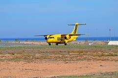Une ambulance aérienne atterrit Image stock
