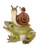 Une amitié de grenouille et d'escargot Photos libres de droits