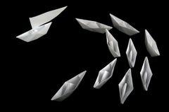Une amorce des bateaux de papier Images stock