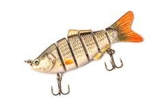 Une amorce pour pêcher sur un fond de bâche W de pêche composé photo libre de droits