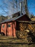 Sucre traditionnel Shack de la Nouvelle Angleterre Images libres de droits