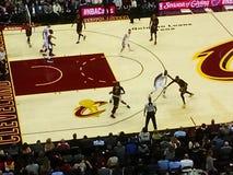 Une arène de basket-ball professionnel Images stock