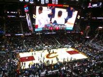Une arène de basket-ball professionnel Images libres de droits