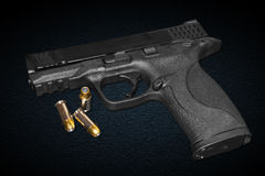 Une arme à feu de 45 millimètres Image stock