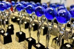 Une atmosphère générale et trophées de récompense sur l'étape pendant le grand concert des récompenses 2016 de musique d'Apple Photographie stock libre de droits
