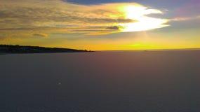 Une autre photo avec le coucher du soleil Image libre de droits