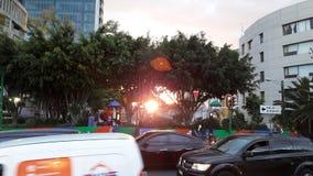 Une autre rue de Mexico à l'aube Photo stock
