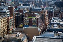 Une autre vue peu commune au-dessus de Glasgow City Centre de 17 planchers ci-dessus images libres de droits