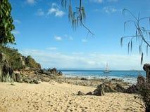 Une baie reculée sur la Grande barrière de corail, Australie images stock
