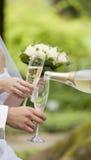 Une baisse de champagne Images libres de droits