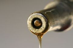 Une baisse de l'instruction-macro précieux 3 de pétrole Image stock