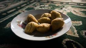 Une banane de molen a fait frire le casse-croûte exotique de pekalongan Photographie stock