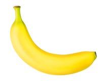 Une banane mûre d'isolement sur le fond blanc Image libre de droits