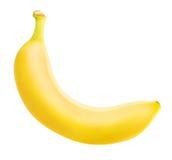 Une banane mûre d'isolement sur le fond blanc Photos stock