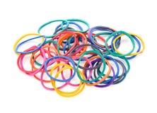 Une bande élastique colorée images stock