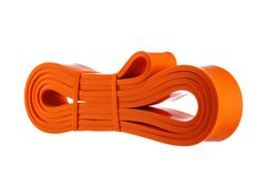 Une bande élastique d'exercice pour la forme physique et le sport image stock