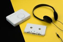Une bande blanche de cassette sonore photo stock