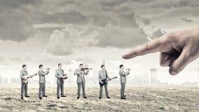 Une bande d'homme Image stock