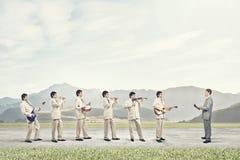 Une bande d'homme Photo libre de droits