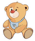 Une bande dessinée bourrée de petit animal d'ours de jouet Photos stock