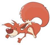 Une bande dessinée d'écureuil Photographie stock libre de droits
