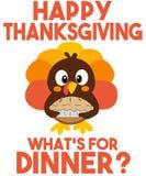 Une bande dessinée Turquie arrive pour le thanksgiving illustration de vecteur
