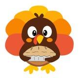 Une bande dessinée Turquie arrive pour le thanksgiving illustration libre de droits