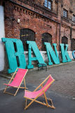 Une banque de signe Photographie stock