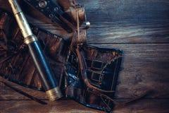 Une belle encore-vie dans le style de steampunk avec protecteur disparaissent image stock