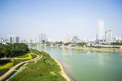 Une belle et propre ville Images libres de droits