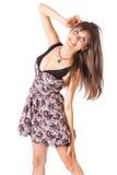 Une belle femme de sourire Image stock