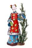 Une belle figurine d'une dame chinoise. Images libres de droits