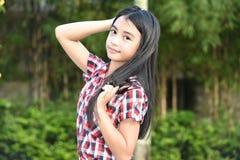 Une belle fille asiatique photo stock