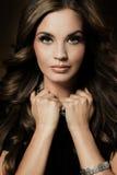 Une belle fille de brune Photos stock