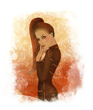 Une belle jeune fille rectifiée comme cheval illustration stock