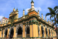 Une belle mosquée à Singapour Image libre de droits