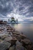 Une belle mosquée aux détroits du Malacca image stock