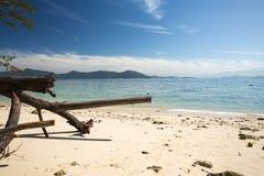 Une belle plage en Kota Kinabalu Images libres de droits