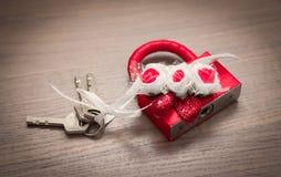 Une belle serrure avec des clés Photos stock