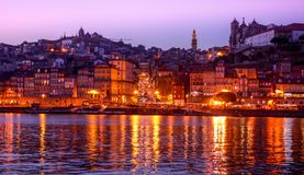 Une belle soirée à Porto, le Portugal Image libre de droits