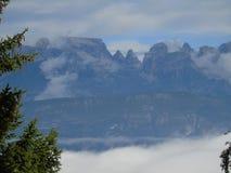 Une belle vue à la ville de Trento Photographie stock libre de droits
